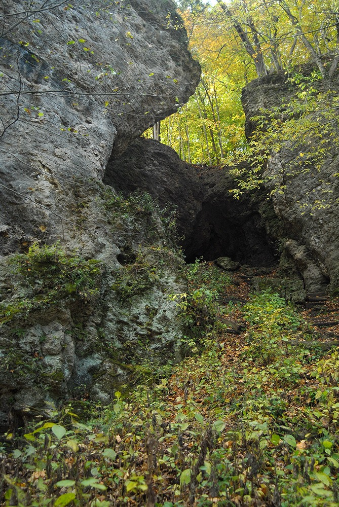 Caves in Iowa: Wapsipinicon State Park Caves, Anamosa