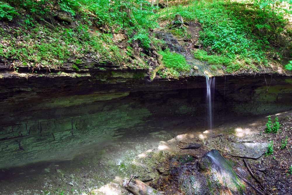 Iowa Waterfalls Bridal Veil Falls Pikes Peak State Park Mcgregor