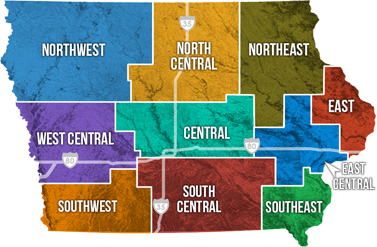 Iowa Travel Regions