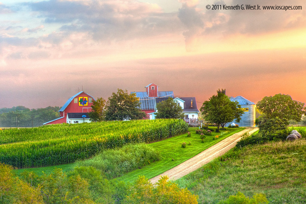 Delaware Crossing Scenic Byway Iowa Tourism Map Travel