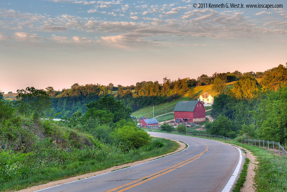 Grant Wood Scenic Byway Iowa Tourism Map Travel Guide