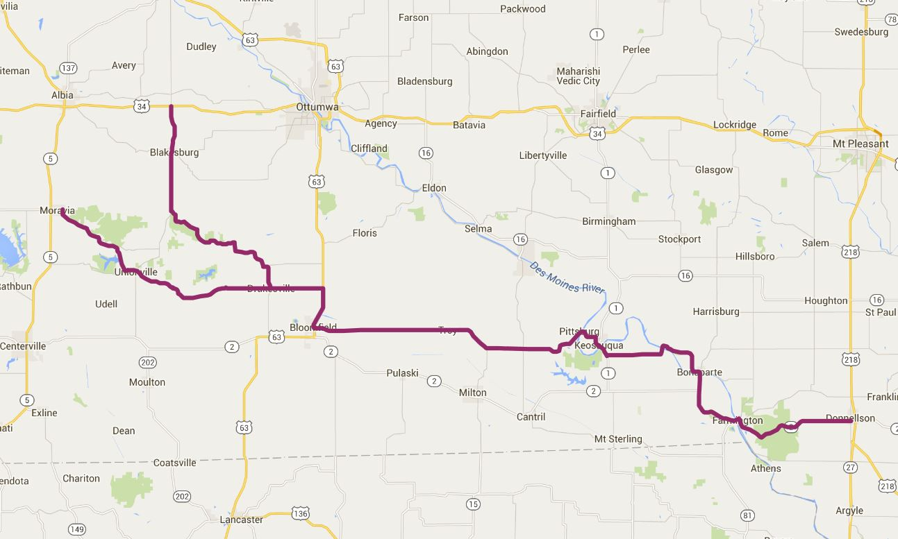 Historic Hills Scenic Byway Iowa Tourism Map Travel Guide - Iowa map