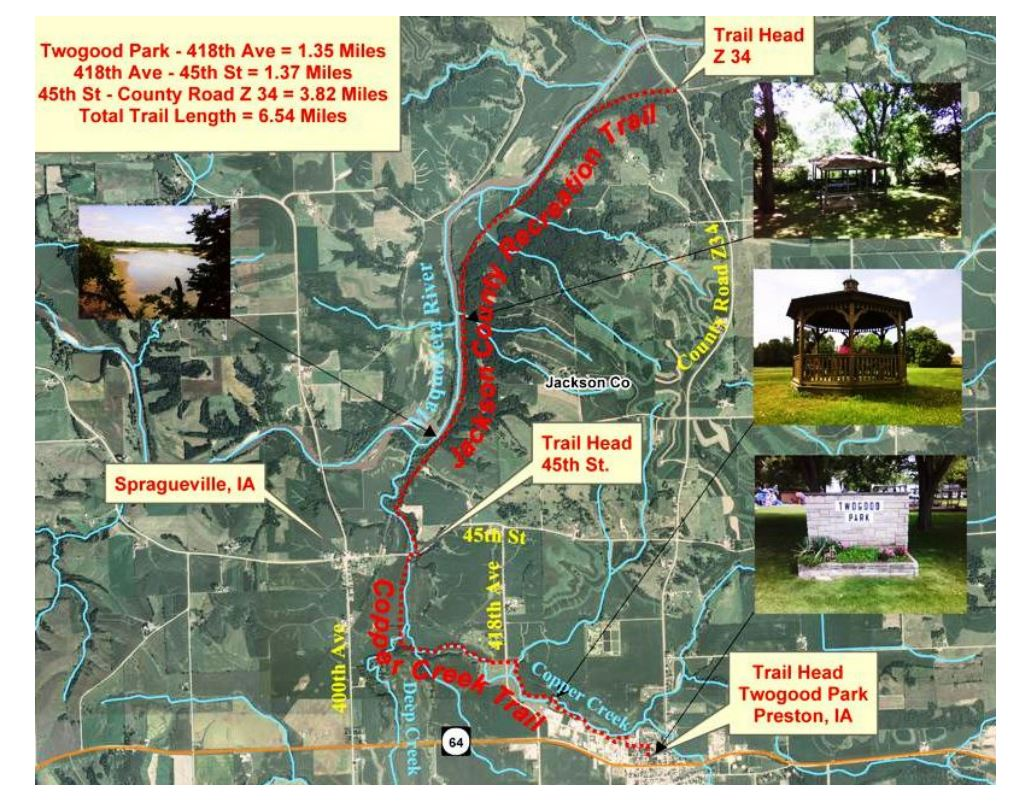 Bear River Recreation Trail: Iowa Tourism Map, Travel Guide, Things on