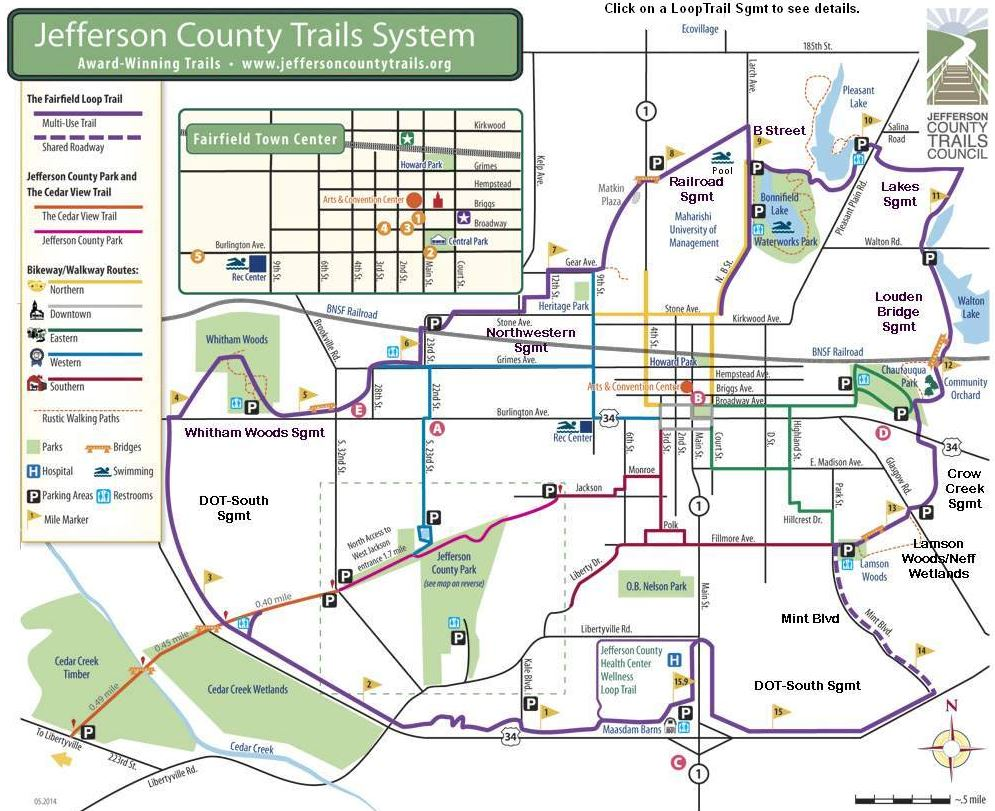 Jefferson County Trail System: Iowa Tourism Map, Travel Guide ... on
