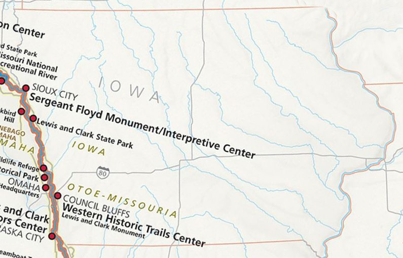 Lewis and Clark National Historic Trail Iowa Tourism Map Travel – Lewis And Clark Travel Map