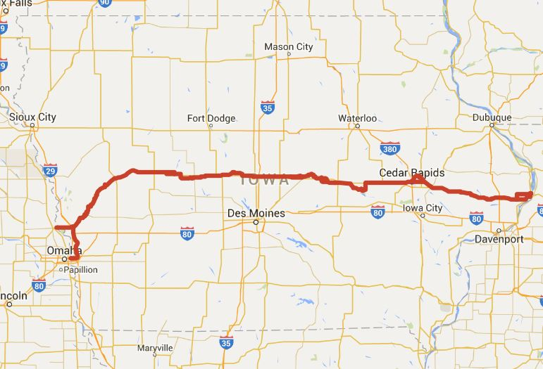 Lincoln Highway Heritage Byway Iowa Tourism Map Travel Guide – Tourist Attractions Map In Iowa
