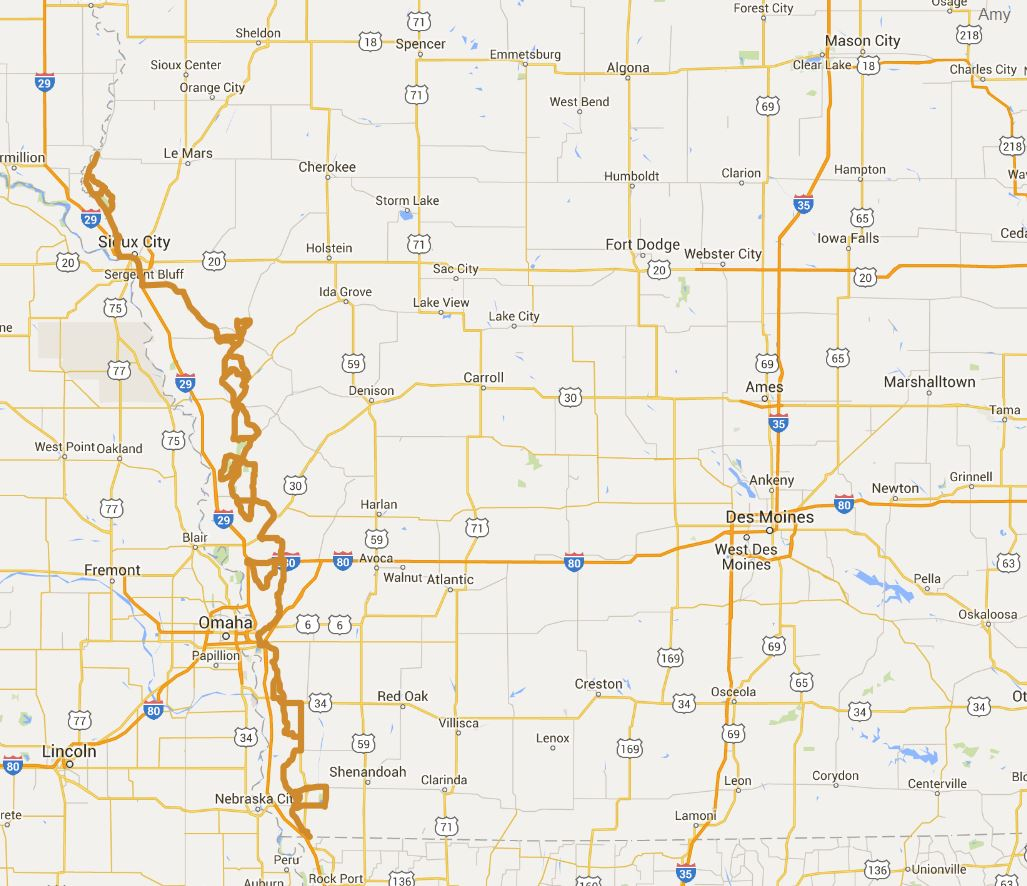 Loess Hills National Scenic Byway Iowa Tourism Map Travel Guide – Omaha Tourist Attractions Map