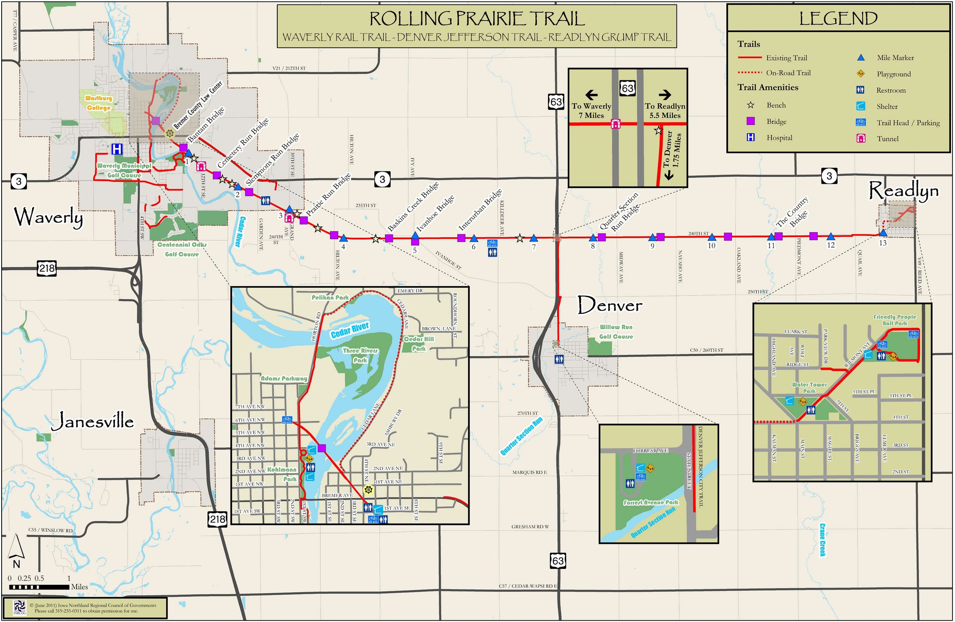 Waverly Rail Trail Iowa Tourism Map Travel Guide Things To Do - Us rail trail map