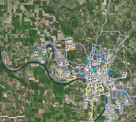 Sioux City Riverfront Trail: Iowa Tourism Map, Travel Guide