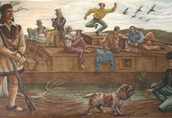1930's Mural in the U.S. Post Office