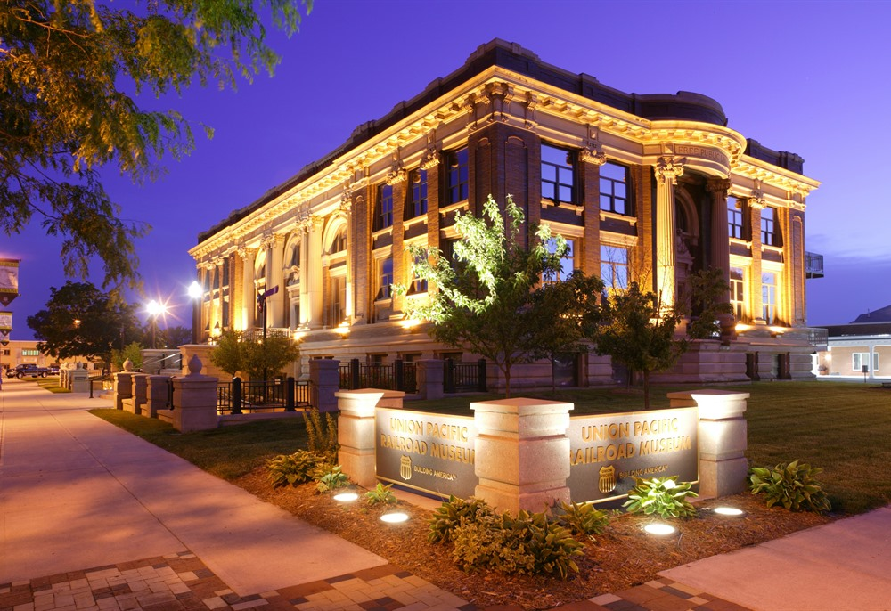 The Union Pacific Railroad Museum is located in Downtown Council Bluffs' beautiful historic Carnegie Library building.