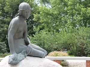 The Little Mermaid Statue Garden Kimballton Iowa