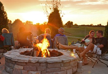 Firepits at Fireside Winery