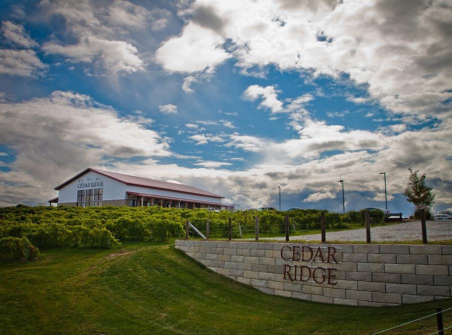 Cedar Ridge Winery Distillery Swisher Iowa