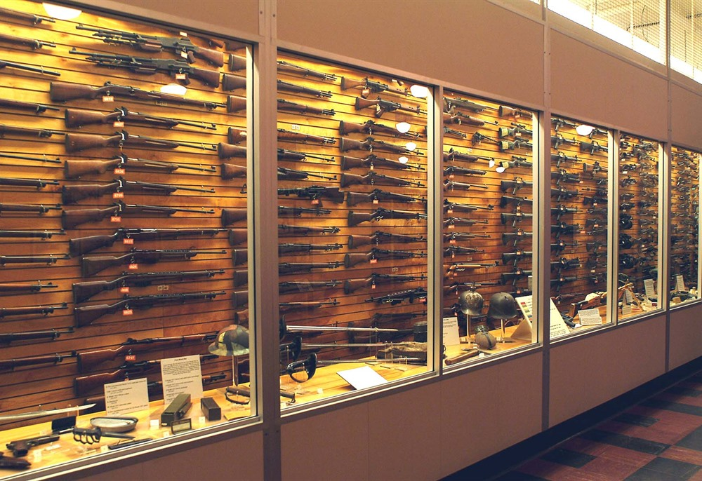 Almost 1,200 military and civilian small arms are on display.