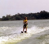 Water skiing at Little Wall Lake