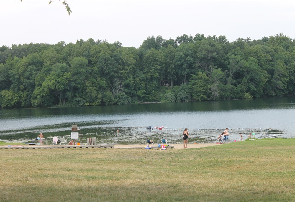 Swimming beach at Briggs Woods Park