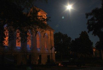 Super Moon at Art Church