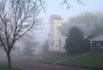 Morning Fog at Project Art Church
