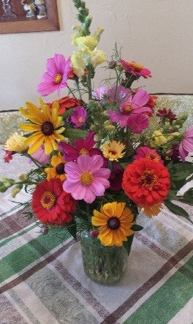 Hand picked flowers from our many cut flower gardens.