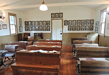 Sheldall Schoolhouse Interior
