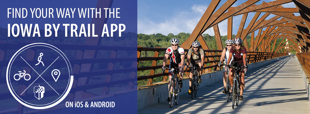 Find Your Way with the </br>Iowa By Trail App