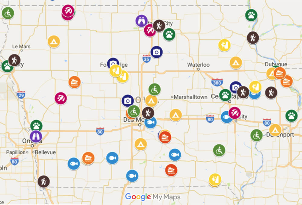 map of iowa state parks The Best Of Iowa S State County Parks map of iowa state parks
