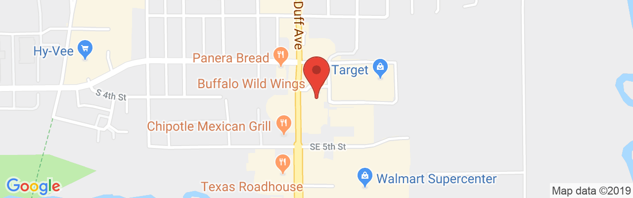 Buffalo Wild Wings - Ames, Iowa | Restaurants | Travel Iowa on petsmart map, burger king map, applebee's map, quiznos map, dairy queen map, chick-fil-a map,
