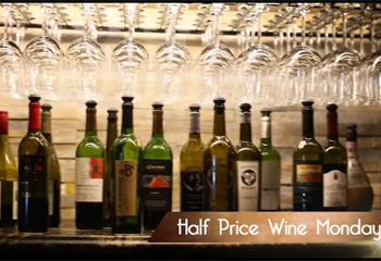 Half Price Bottles of Wine on Mondays